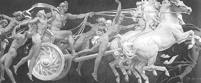 John Singer Sargent, Apollo in His Chariot with the Hours