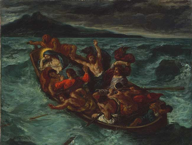 Eugene Delacroix, Christ Asleep During the Tempest