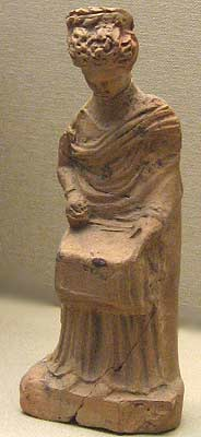 Cyprus, Woman Writing, Fourth Century B.C.