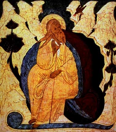 Elijah in the Desert, Russian Icon