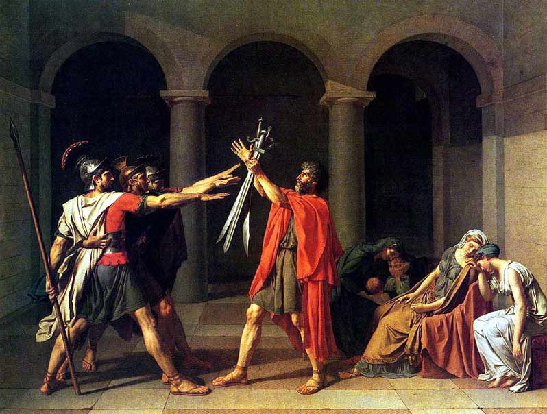 Jacques-Louis David, The Oath of the Horatii