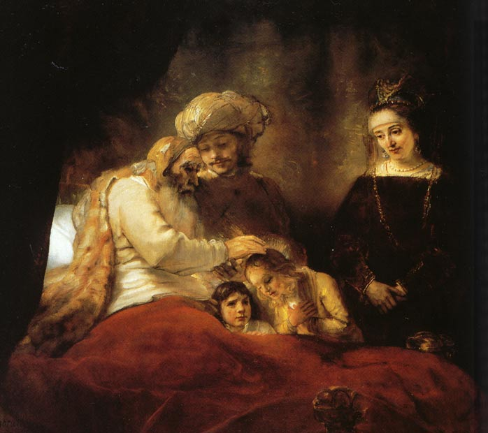 Rembrandt van Rijn, Jacob Blessing the Sons of Joseph