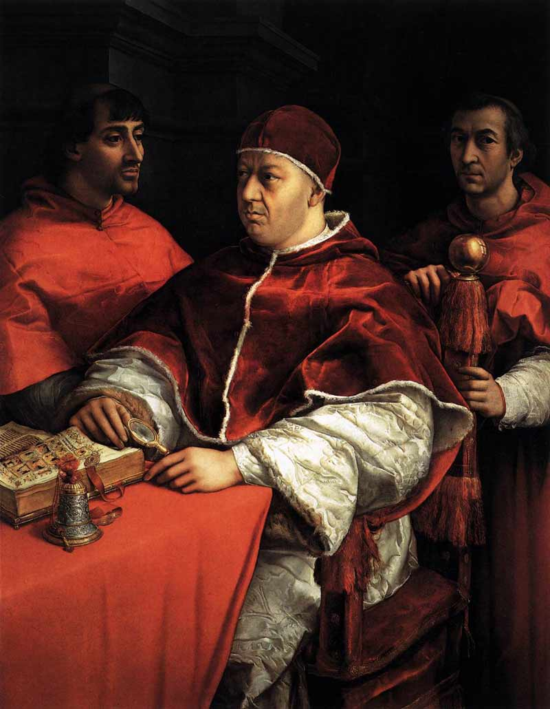 Pope Leo X, by Raphael