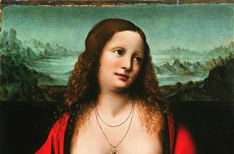Mary Magdalene, Detail, School of Leonardo Da Vinci