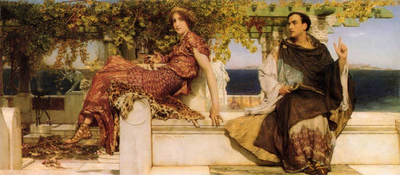 Sir Lawrence Alma-Tadema, the Conversion of Paula by Saint Jerome