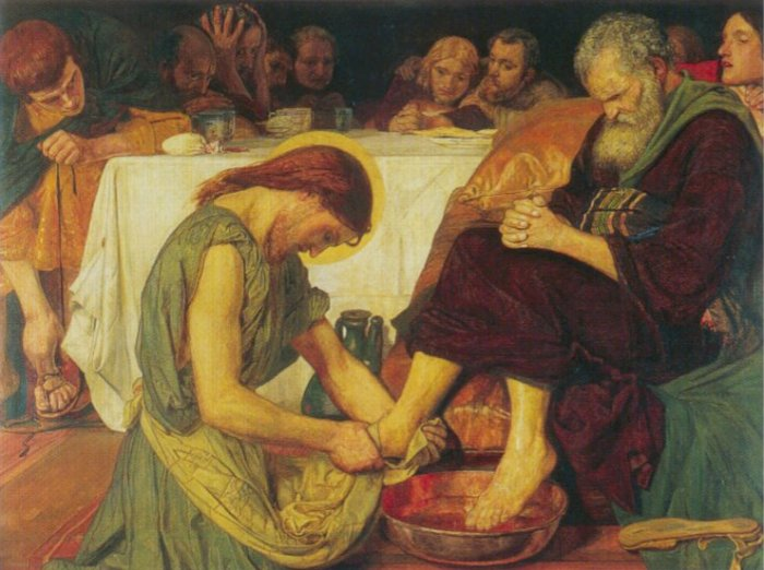 Jesus washing Peter's feet at the Last Supper, Ford Madox Brown