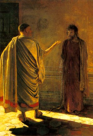 Nikolai Ge, 'What is Truth' (Christ Before Pilate)