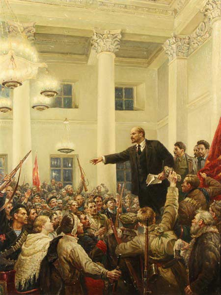 V.I. Lenin Proclaims Soviet Power, Vladimir Serov