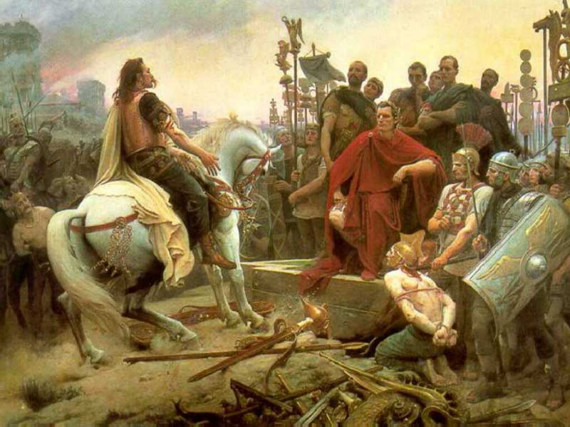 Vercingetorix Throws Down His Arms at the Feet of Julius Caesar, Lionel Royer
