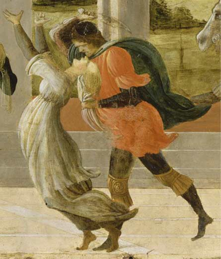Death of Virginia, detail of a mural by Filippino Lippi
